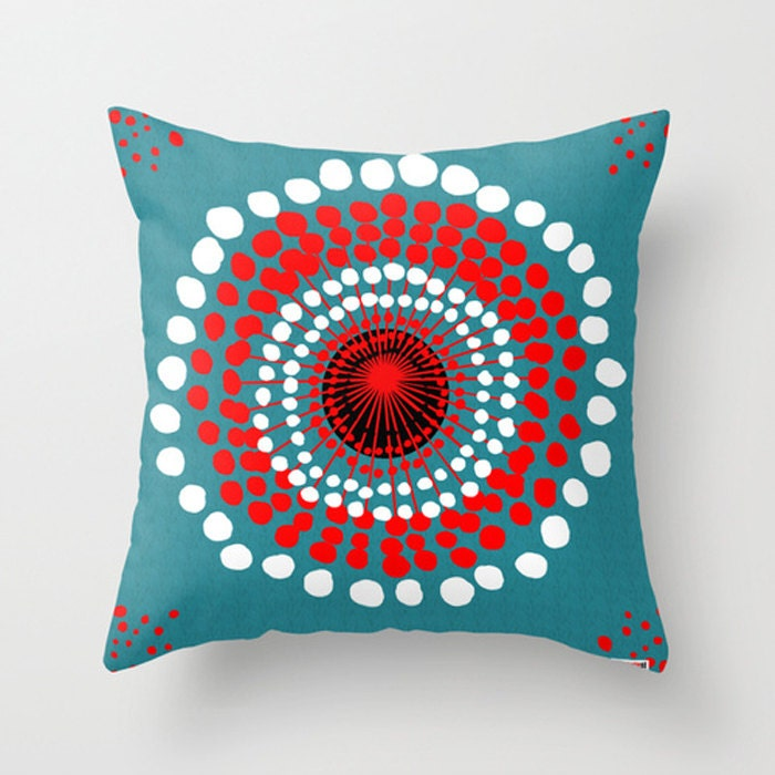 16x16 Decorative throw pillow cover Dots pillow by TheGretest