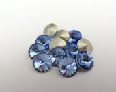 12 Light Sapphire Foiled Swarovski Crystal Rivoli Stone 1122 39ss 8mm