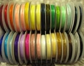 """3/8"""" Satin Edge Organza Ribbon--5 yards--YOU Choose Color--32 Colors to Choose From"""