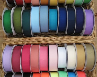 """85% OFF-- 1.5"""" FULL ROLL of Solid Grosgrain Ribbon--50 yards--Ready to Ship--Limited Colors Available"""