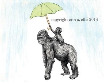 Gorillas 8x10 Print