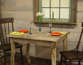 Driftwood dining set table 72l x 35w x 30 or for Dining room tables 36 x 72