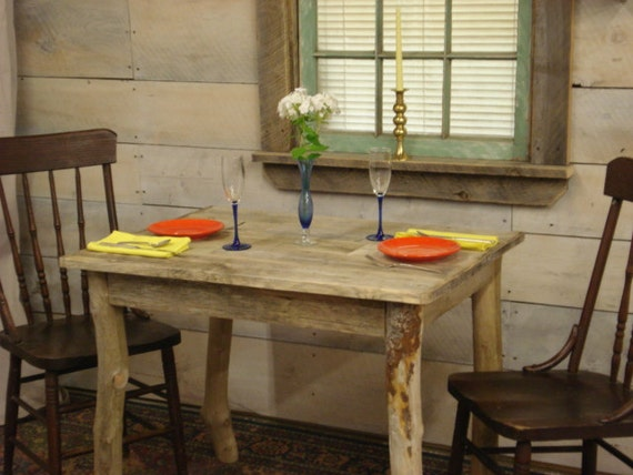 Dining room table driftwood beach house table for Dining room tables etsy