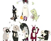 Costume Party A3 Print