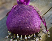 Lavender Sachet in Beaded Organza Bag - Dried Lavender, Wedding, Favor, Sachet