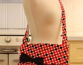 Messenger Bag Black and Red Dots Cross Body Bag Purse