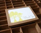 letterpress cypress thank you boxed set of cards