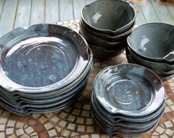 Dinnerware Set for Eight in Slate Blue - Made to Order
