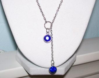 Sapphire Lariat Necklace
