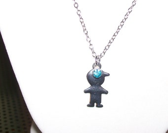 Little Boy Birthstone Necklace for Mom or Grandmother for March