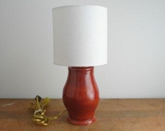 Hand Thrown Ceramic Vase, Mini Table Lamp