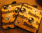 Pot Holders Pittsburgh Steelers yellow and black (2)