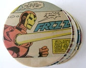 Iron Man Coasters // Recycled Vintage Comic