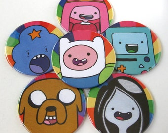 Adventure Time Inspired Coasters // LSP Finn Jake BMO Bubblegum Marcelene