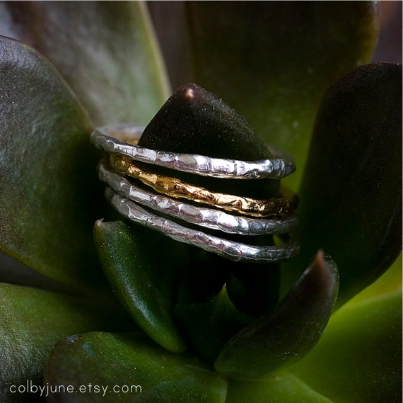Single 14k Gold Raw Ring| Contemporary Ring Designs| Stacking Rings