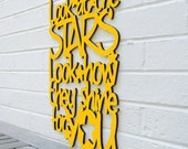Look at the Stars sign quote decor (Coldplay, Chris Martin, nursery, valentine gift for her)