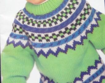 Patons Childrens Sweater Knitting Pattern Book
