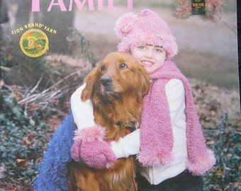 Fun Projects for the Family Knit Crochet Pattern Book by Leisure Arts
