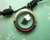 Stainless Steel Locket Necklace Pendant Leather Floating Transformers Charms