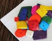 Colourful Bone Bead Mix x 10 pieces