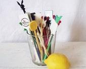 Vintage Stir Sticks, Swizzle Sticks, Stix, Plastic Hotel Bar Playboy -Lot