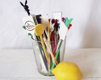 Vintage Stir Sticks, Swizzle Sticks, Stix, Plastic Hotel Bar Playboy -Lot