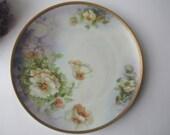 Antique Austrian Wahliss Purple White Floral Plate