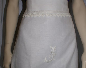 Vintage, repurposed linen apron