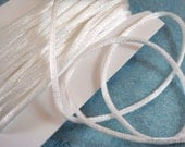 SALE - 25ft White Satin Cord 2mm Rattail - 25 ft - STR9067CD-WH25