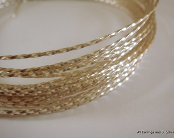 Twisted Wire Silver Plated Non-Tarnish 18 Gauge Soft Tempered - 8 feet - STR9069WR-TWS8