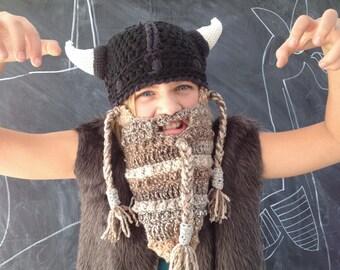 Dwarf Hat Set with Detachable Beard - Cotton Crochet