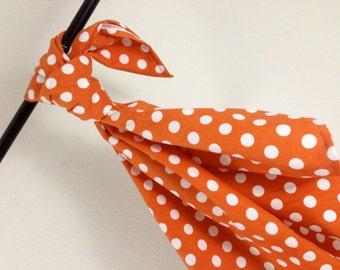 Riley Blake Orange Dot Baby Blanket Flannel Swaddler
