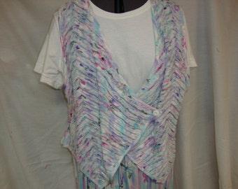 vintage handmade chenile vest - 50% off