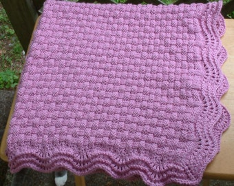 Pink Basket of Love Baby Blanket