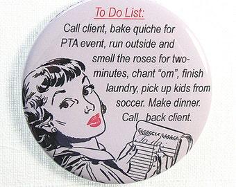 Funny PTA Mom Fridge Magnet great Stocking Stuffer, Small Giftables