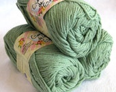 SPRUCE Green 100% cotton yarn, Creme de la Creme,  worsted weight, dishcloth cotton
