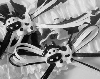 wedding garters Cow Charming Wedding Garter Set