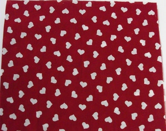 Half Yard Heart Fabric Panel