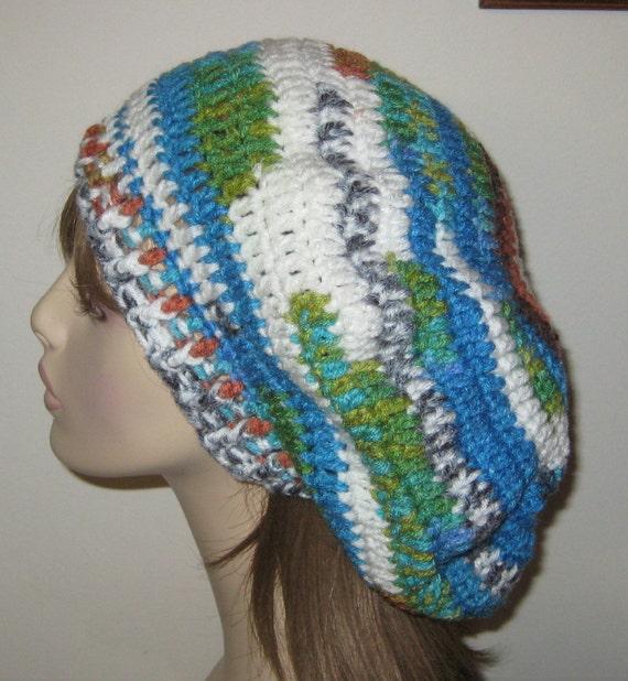 Peruvian Print Slouchy Beret Tam Dread Hat