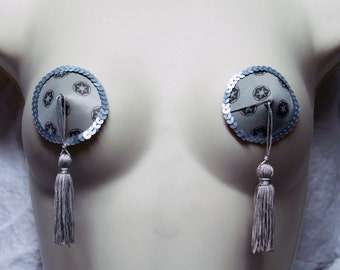 Star Wars Empire Silver Pasties with Tassels