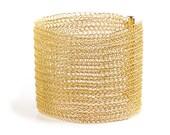 CUFF bracelet Gold filled luxury glamourous handmade Cuff bracelet wire crochet custom cuff fashion jewelry