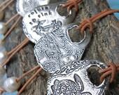 Boho Chic Jewelry, Boho Necklace, Boho Leather Necklace, Sterling Silver Boho Bolo Necklaces, Boho Leather Pearl Necklace, CHOOSE DESIGN