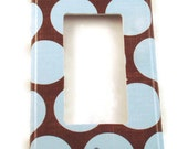 Rocker Switchplate  Light Switch Cover  Switch Plate in  Cocoa Blue   (172R)