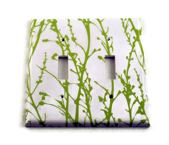 Double Light Switch Cover Switchplate in  Green Grass  (128D)