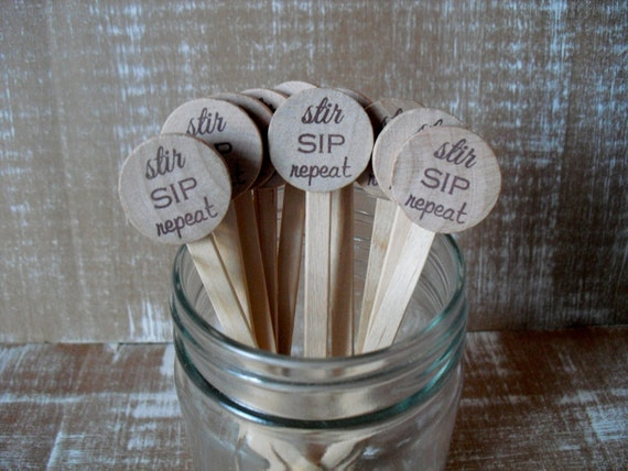 Wooden Drink Stirrers Personalized For Wedding Coffee Stirrer