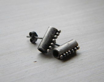 sterling silver post earrings, stud earrings