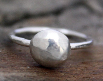 Fine Silver Pebble Ring
