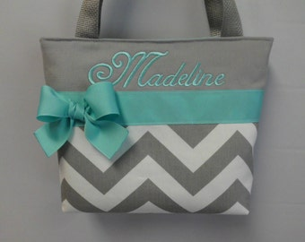 ARROWS ... CHEVRON ... Child Size  Bag.. ..You Pick Color Options  ..FLoWER GIRL  Bag ...  Monogrammed  FReE