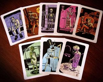 All 8 Universal Monster Postcards