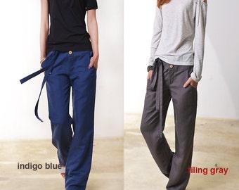 Breeze - top quality straight cut cotton linen pants / linen casual pants (K3102)